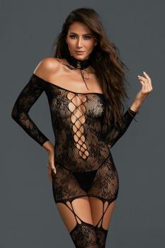 Garter Dress DR0318 schwarz Größe: Queen-Size